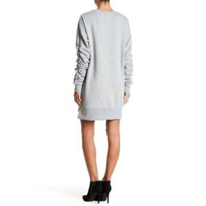 Solutions! Dresses - Solutions! Ruched Sleeve Sweatshirt Dress